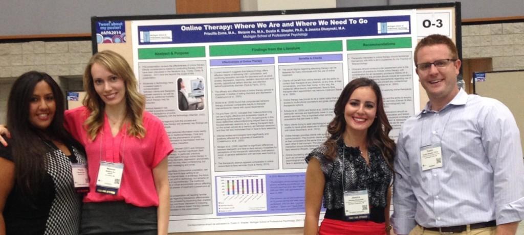 From left: Priscilla Zoma, Melanie Ho, Jessica Dluzynski, and Dr. Dustin Shepler