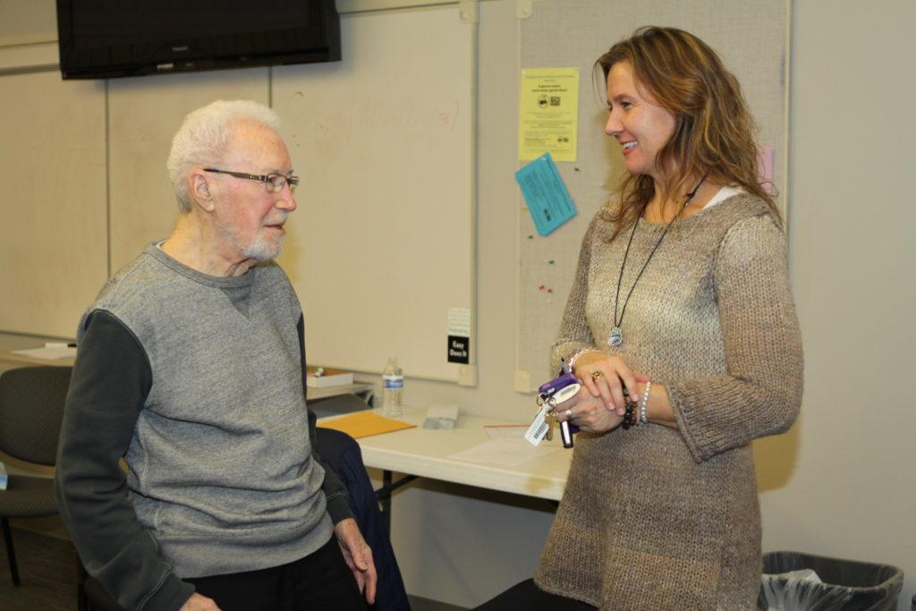 Two professors chatting