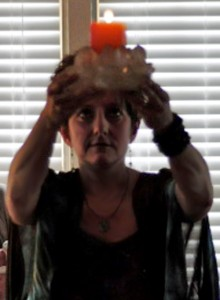 Betz performing a ritual