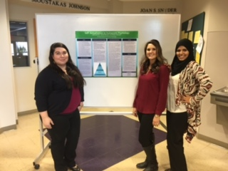 Students presenting at conference