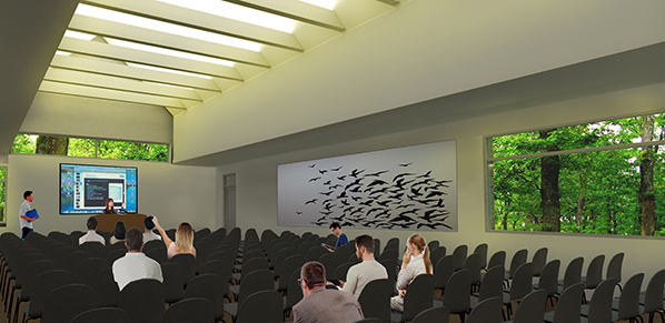 Architect's rendering of the new event space.