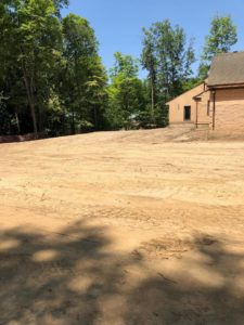 Photo of flattened dirt during campus expansion