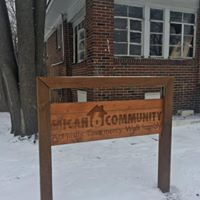 Picture of wooden Micah 6 sign