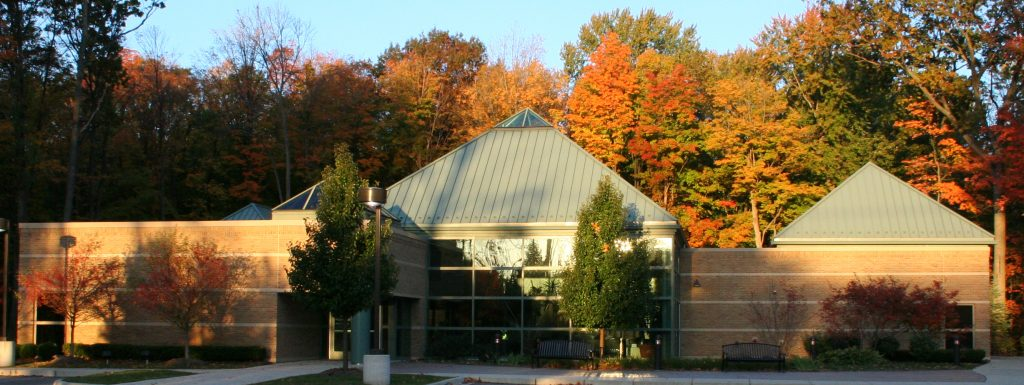 Photo of Michigan School of Professional Psychology building in the fall.