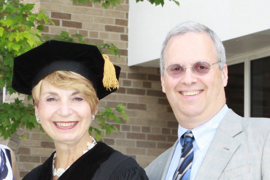Image of Sen. Jacobs and Sandy K at 2010 graduation.