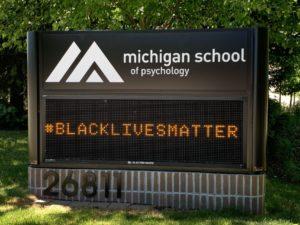 Photo of MSP sign #BlackLivesMatter