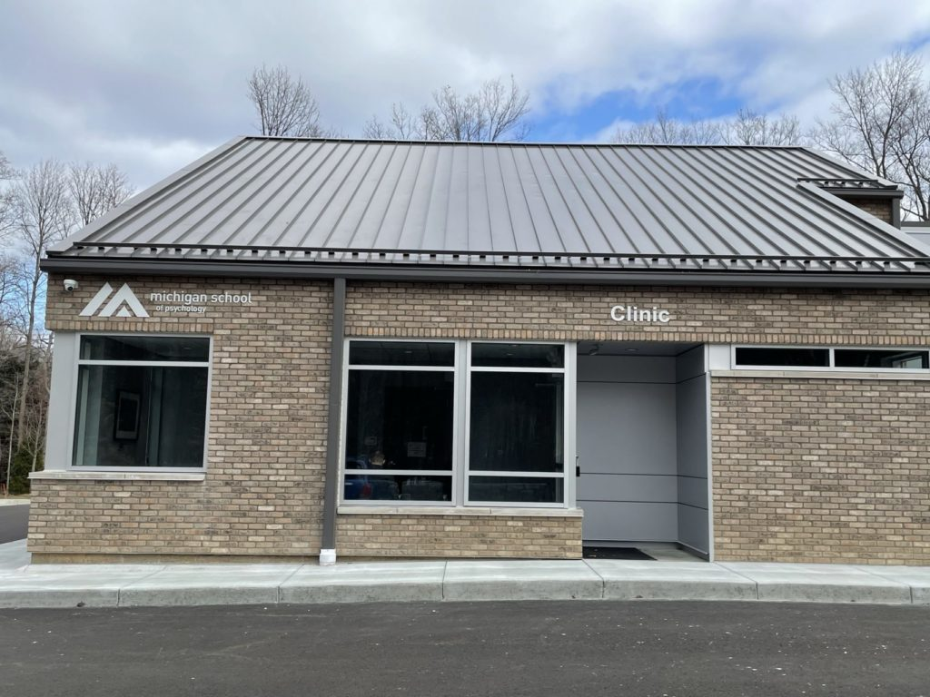 Photo of the exterior of the Michigan School Psychological Clinic.